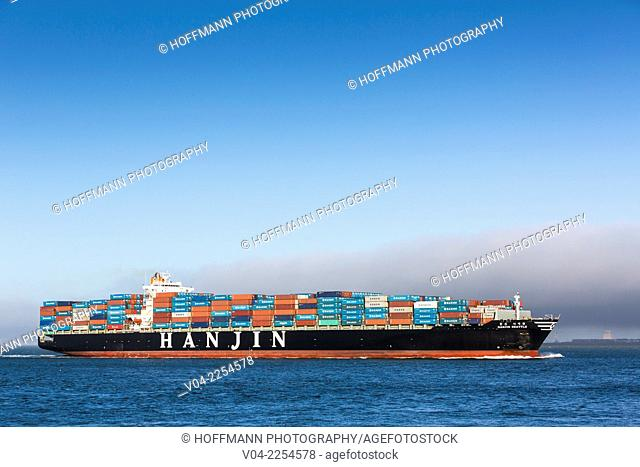 Large container ship in the San Francisco Bay, California, USA