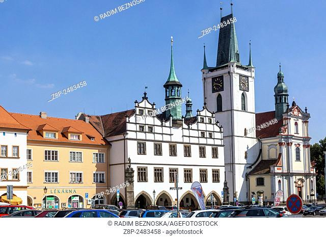 The former town hall on the main square, Litomerice, Northern Bohemia, Czech Republic