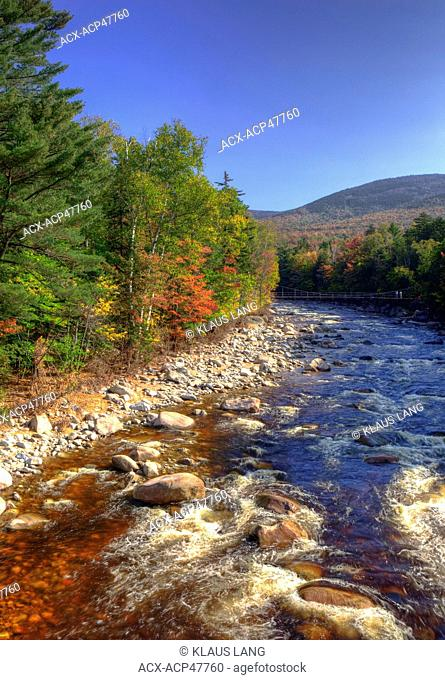 Swift River, White Mountains, along Kamcamagus Highway, New Hampshire, United States of America