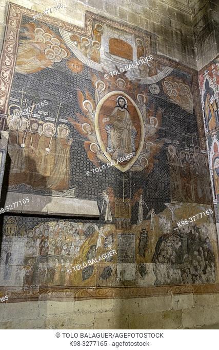 Pinturas murales en la Capilla de San Martín, Catedral de la Asunción de la Virgen, catedral vieja, Salamanca, comunidad autónoma de Castilla y León, Spain