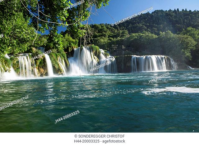 Waterfall in th national park Krka