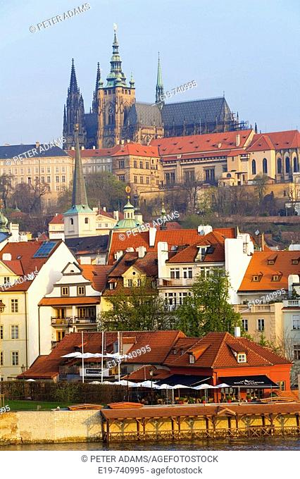View of Mala Strana and Prague Castle, Prague, Czech Republic