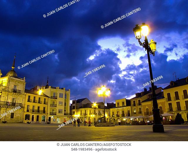 Ponferrada square. Leon. Spain. Europe