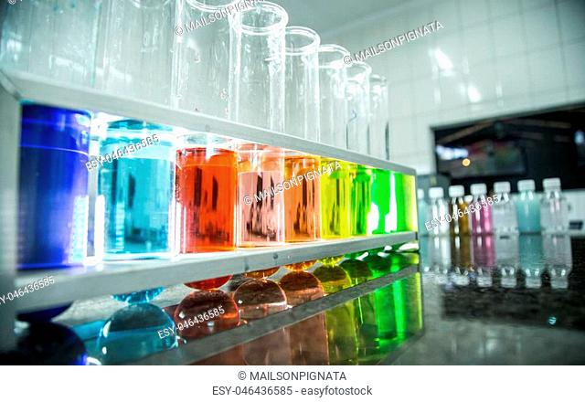 chemical beaker color liquid
