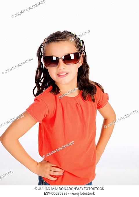 Girl flirting with her †‹†‹sunglasses
