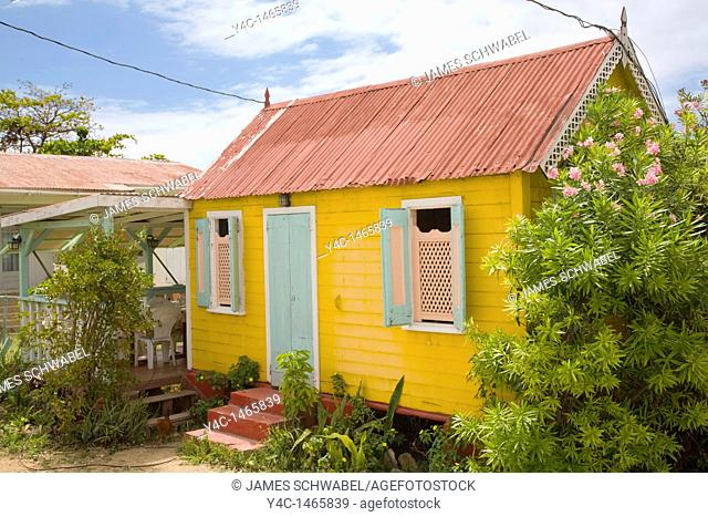 Houses on the caribbean island of Anguilla in the British West Indies