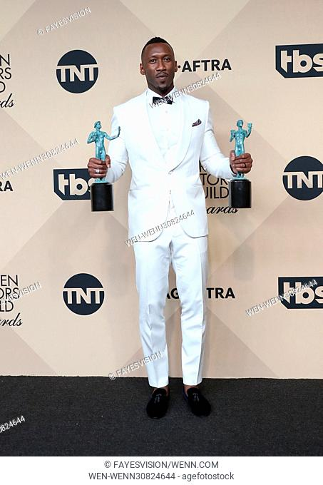 23rd Annual Screen Actors Guild Awards - Press Room Featuring: Mahershala Ali Where: Los Angeles, California, United States When: 29 Jan 2017 Credit:...