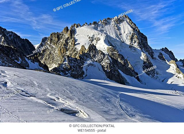 Peak Aiguille du Chardonnet, Glacier du Tour, Chamonix, Haute-Savoie, France
