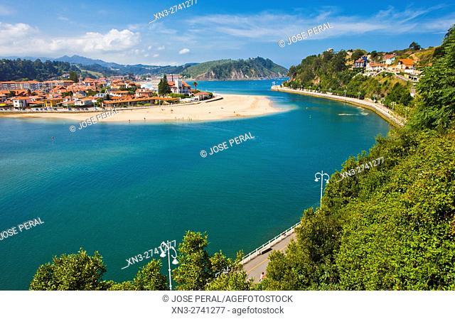 Sella River estuary, Ribadesella, Asturias, Spain, Europe,