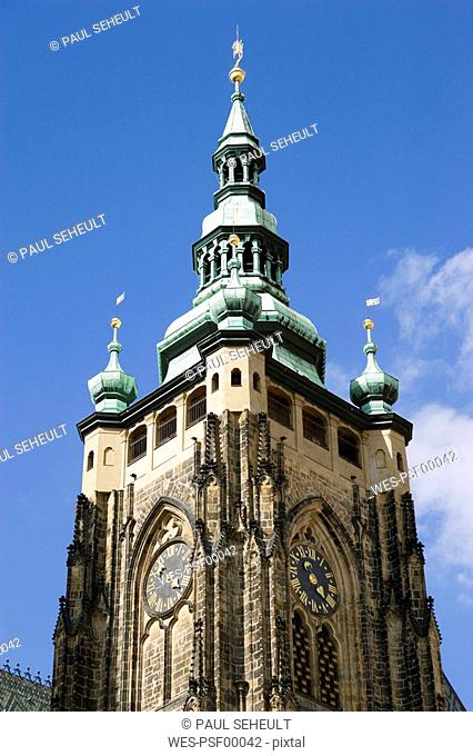 Czech Republic, Prague, St Vitus's Church, low angle view