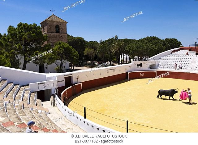 Old bullring. Mijas white town. Malaga province, Andalusia, Spain