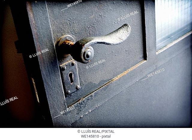 Close up of door handle