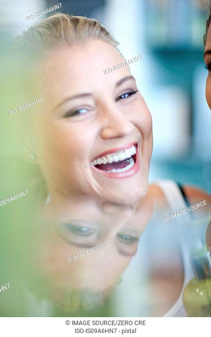 Close up of woman's smiling face
