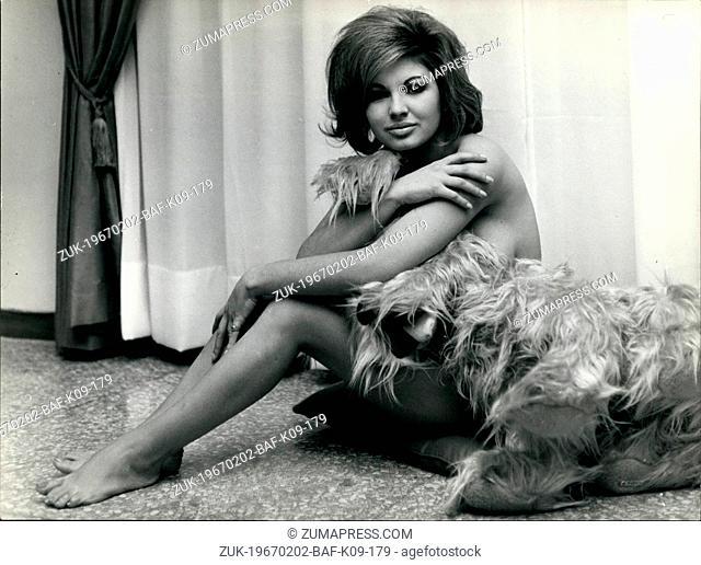 Feb. 02, 1967 - The Golden Star of the Italian Cinema is a brown islander: Monica Pardo, born in Sassari (Sardinia), 19 year old