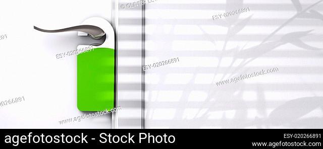 blank plastic door hanger