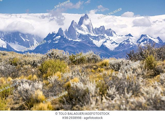 Monte Fitz Roy, - Cerro Chaltén -, 3405 metros, parque nacional Los Glaciares, Patagonia, Argentina