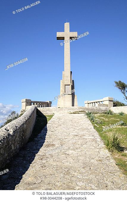 cruz del Picot, 1957, Santuario de Sant Salvador, Felanitx, Mallorca, balearic islands, Spain