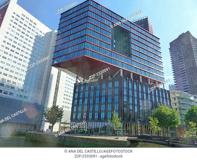 The Red Apple is a tall residential tower in the heart of Rotterdam. The building completed in the year 2009 Netherlands