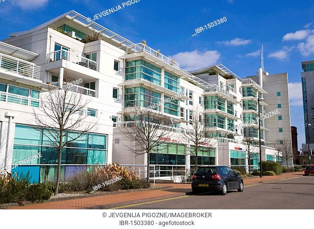 Apartment block, Havannah Street, near Cardiff Bay, Cardiff, Caerdydd, South Glamorgan, Wales, United Kingdom, Europe