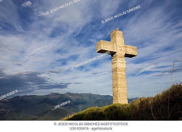 Cruz de la Viorna in the Liebana Valley, next to the Picos de Europa National Park, in Cantabria, Spain