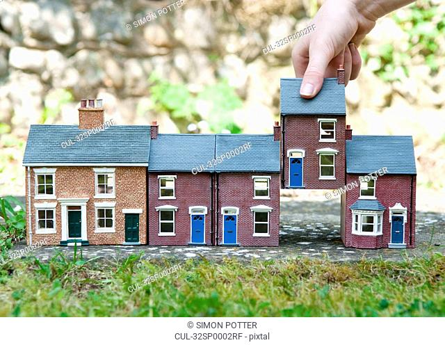 Person selecting model house