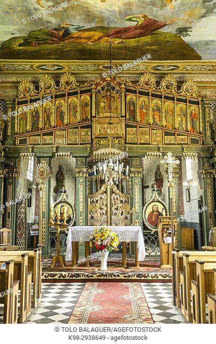 iglesia de San Nicolas y San Juan Bautista, catolica griega, construida en 1837,Tyrawa Solna, valle del rio San, Lesser Poland Voivodeship, Carpathians, Poland