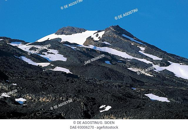 Ruapehu Volcano, Tongariro National Park (UNESCO World Heritage List in 1990), North Island, New Zealand