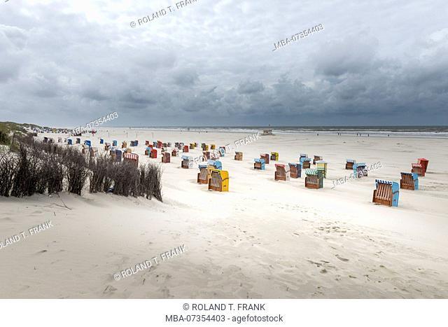 Germany, Lower Saxony, East Frisia, Juist, on the beach of Juist