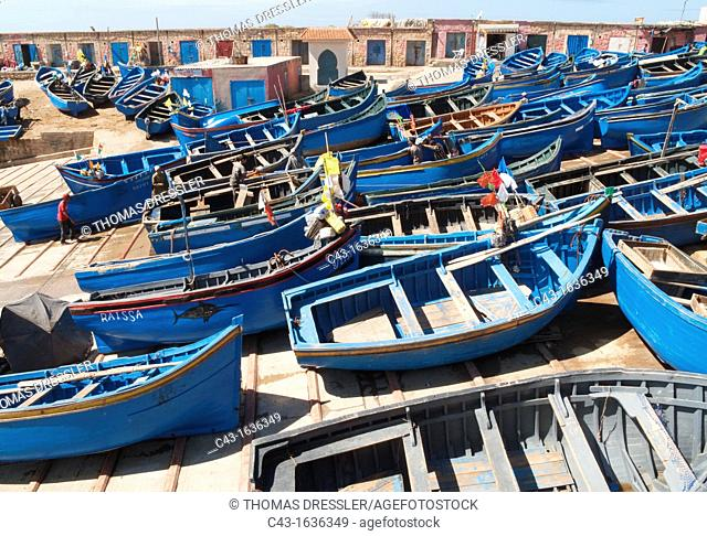 Morocco - The picturesque fishing harbour of Pointe Imessouane between Essaouira and Agadir