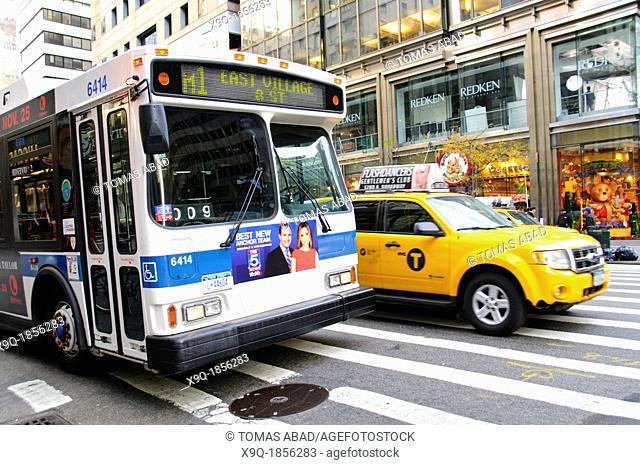 New York City Public Transportation M1 Bus, Manhattan, New York City, USA