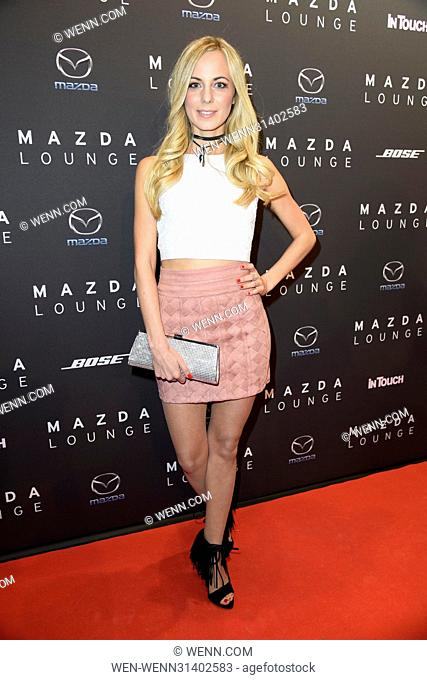 Mazda and InTouch Spring Cocktail at Mazda Lounge at Friedrichstrasse. Featuring: Syra Feiser Where: Berlin, Germany When: 03 May 2017 Credit: WENN