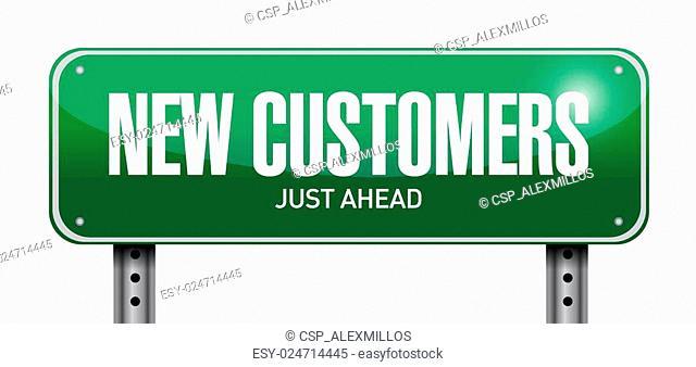 new customer street sign concept