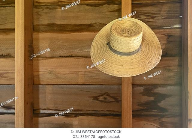 Thibodaux, Louisiana - A hat on the wall in the kitchen of the E. D. White Historic Site