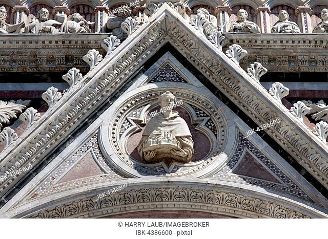 Siena Cathedral, Cattedrale di Santa Maria Assunta, close-up, Siena, Province of Siena, Tuscany, Italy
