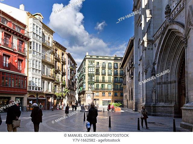 Cathedral of Santiago in the Old Quarter of Bilbao