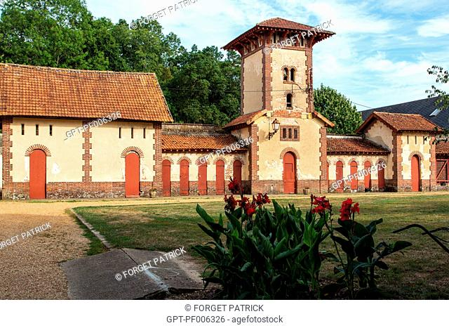 THE CASTLE'S STABLES AND OUTBUILDINGS, NOGENT-LE-ROI (28), FRANCE