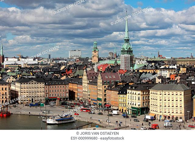 The Old Town Gamla Stan of Stockholm