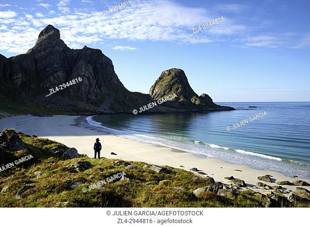Norway, Nordland County, north of the Arctic Circle, Vesteralen archipelago between the Lofoten islands and Tromso, Andoya island (Andoy)