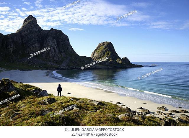 Norway, Nordland County, north of the Arctic Circle, Vesteralen archipelago between the Lofoten islands and Tromso, Andoya island (Andoy)