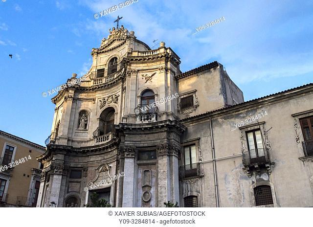 Church of San Placido, Catania, Sicily, Italy