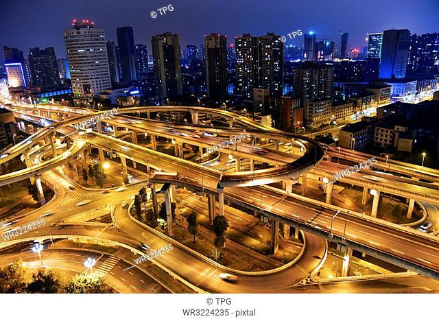 Chengdu at the night, Sichuan, China