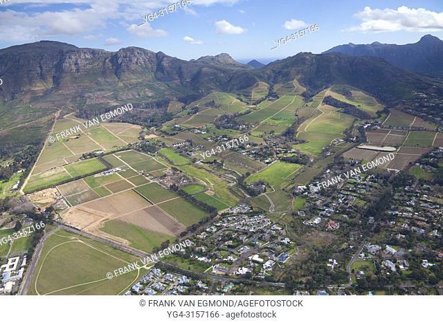 Wine Farm Aerial, Helderberg, Stellenbosch, South Africa
