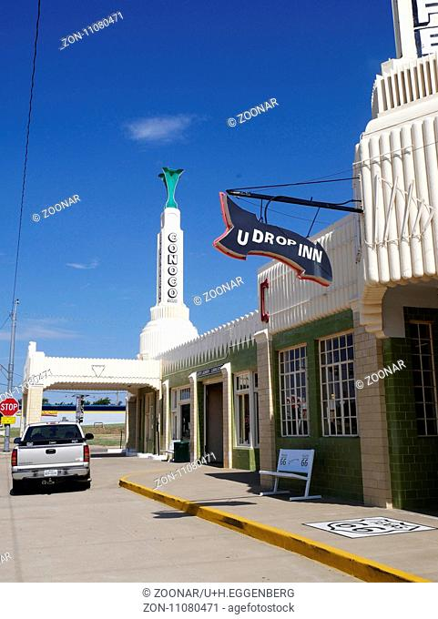 Historic U Drop Inn,Shamrock,Texas,Route 66