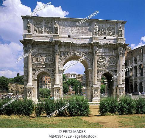 Italy, Rome, piazza Del Colosseo, Konstantinbogen, Europe, destination, city, capital, culture, city-dweller-ice, tourism, sight, Arco di Constantino