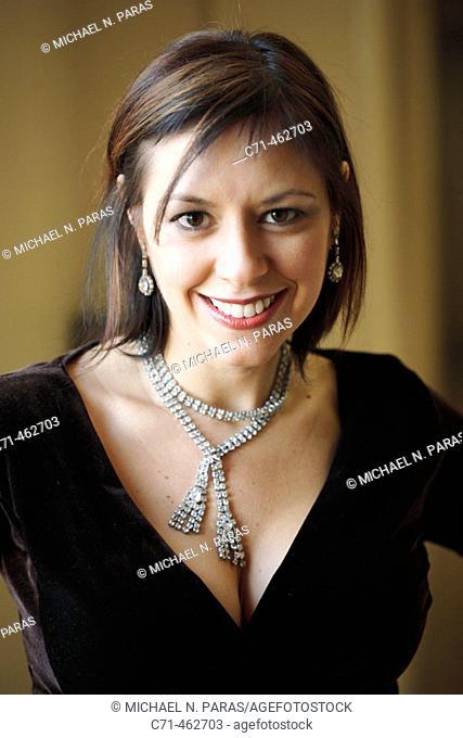 Sexy caucassian woman smiling in camera