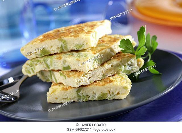 Fresh fennel omelette