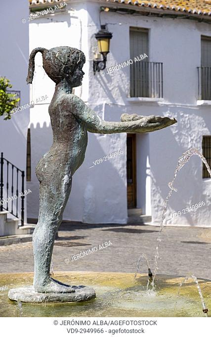 Niña de Benalmadena in Plaza de España, Benalmadena. Málaga province, Costa del Sol, Andalusia. Southern Spain Europe