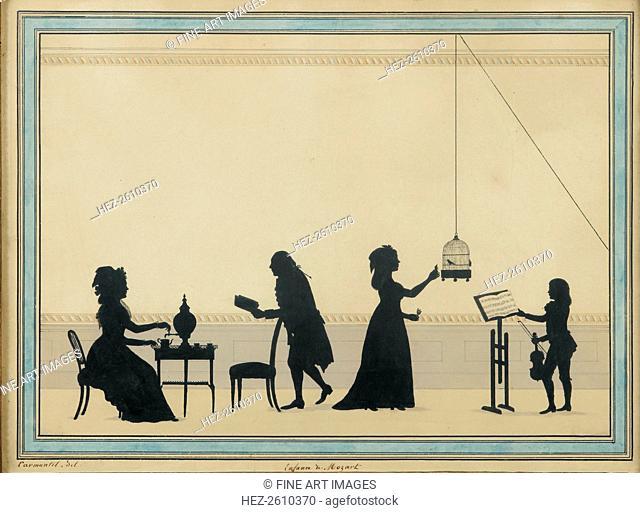 Family Mozart, c. 1763. Artist: Carmontelle, Louis (1717-1806)
