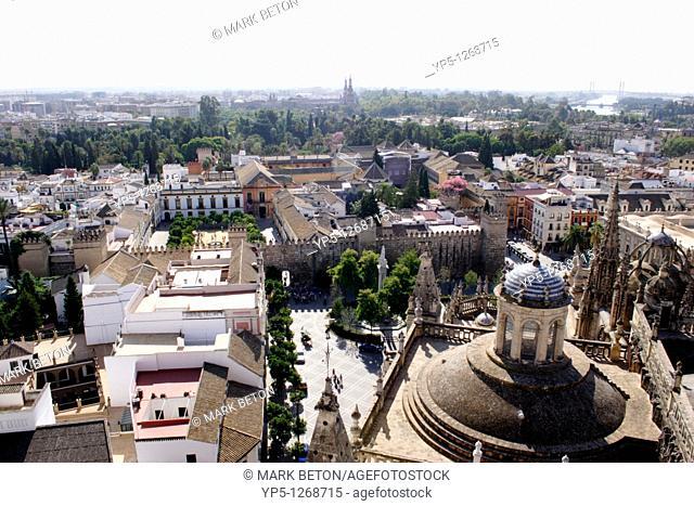 Seville skyline view from La Giralda bell tower