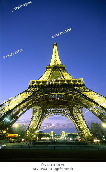 Eiffel, Eiffel tower, France, Europe, Holiday, Landmark, Night, Paris, Tour, Tourism, Travel, Vacation, View